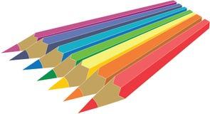 Pencil set. Pencil vector set in color stock illustration