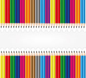 Pencil set background Stock Photos