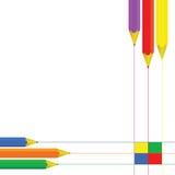 Pencil set color vector Stock Image