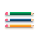 Pencil set flat design Royalty Free Stock Image