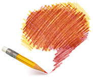 Pencil shading Royalty Free Stock Photography