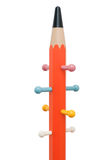 Pencil shaped hangers. Colorful,copyspace Royalty Free Stock Images