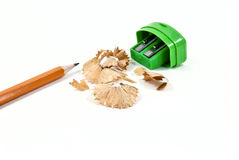 Pencil and a sharpener Royalty Free Stock Photo