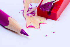 Pencil with sharpener. Stock Image