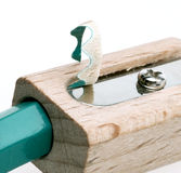 Pencil sharpener. Grinding manual machining mechanical pencil sharpener Royalty Free Stock Image