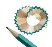 Pencil sharpener. Grinding manual machining mechanical pencil sharpener Royalty Free Stock Images