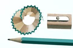 Pencil sharpener. Grinding manual machining mechanical pencil sharpener Stock Photos