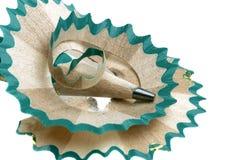 Pencil sharpener. Grinding manual machining mechanical pencil sharpener Stock Photography