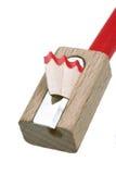 Pencil sharpener. Grinding manual machining mechanical pencil sharpener Stock Image