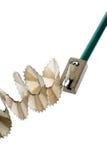 Pencil sharpener. Grinding manual machining mechanical pencil sharpener Stock Images