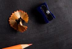 Free Pencil Sharpener And Pencil Close Up Stock Photo - 93993040