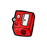 Pencil sharpener cartoon Royalty Free Stock Images