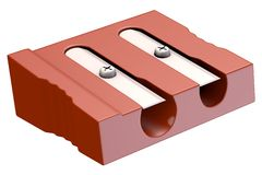 Pencil sharpener - double Royalty Free Stock Image