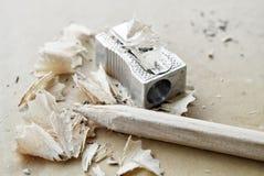 Pencil and sharpener Royalty Free Stock Image