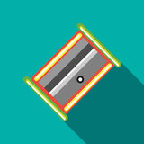 Pencil sharpener icon in flat style Royalty Free Stock Image