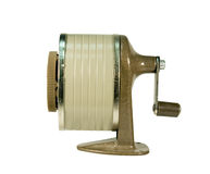 Pencil sharpener isolated with clipping path Stock Photo