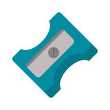 Pencil sharpener school icon Stock Photo