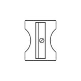 Pencil sharpener thin line icon, stationary outline vector logo vector illustration