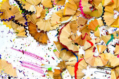 Pencil sharpener waste Royalty Free Stock Photo