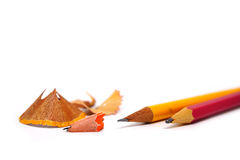 Pencil and sharpener Royalty Free Stock Image