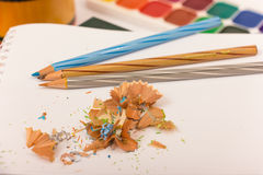 Pencil and sharpener Royalty Free Stock Photo