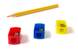 Pencil sharpeners Royalty Free Stock Images
