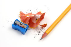 Pencil sharpening single Royalty Free Stock Image