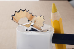 Pencil sharpening Royalty Free Stock Photography