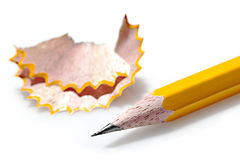 Pencil with shaving Stock Photos