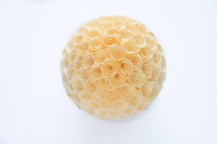Pencil shaving ball with white background Royalty Free Stock Photos