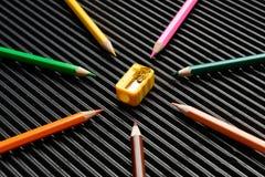 The pencil shaving Royalty Free Stock Photo