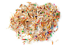 Pencil Shaving Chips Stock Image