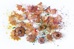Pencil shavings Royalty Free Stock Photography