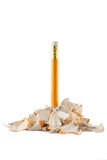 Pencil in shavings Stock Image