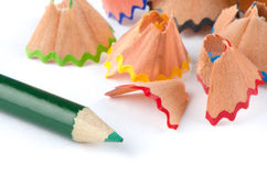 Pencil and shavings Stock Photography