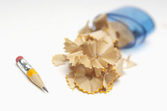 Pencil With Shavings Royalty Free Stock Image