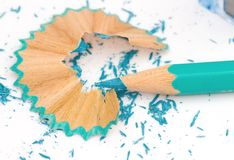 Pencil and shavings Stock Image