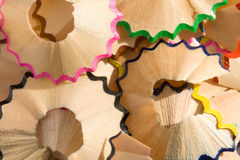 Pencil Shavings. A close up of pencil shavings Royalty Free Stock Images
