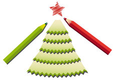 Pencil shavings christmas tree Royalty Free Stock Images