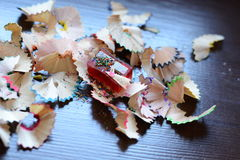 Pencil shavings Stock Photo