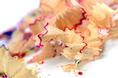 Pencil shavings Stock Photos