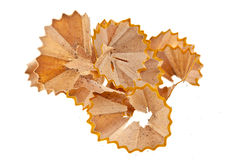 Pencil Shavings Isolated on Royalty Free Stock Photography