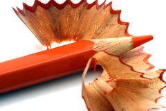 Pencil Shavings isolated Royalty Free Stock Images
