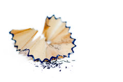 Pencil Shavings isolated on White Stock Photography