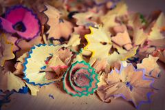 Pencil shavings Stock Images