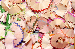 Pencil shavings Stock Image