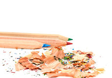Pencil and shavings Stock Photos