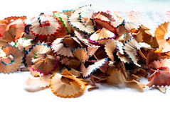 Pencil shavings Royalty Free Stock Photos