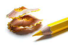 Pencil and shavings Stock Images
