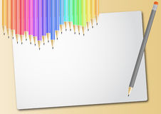 Pencil sheet Royalty Free Stock Image